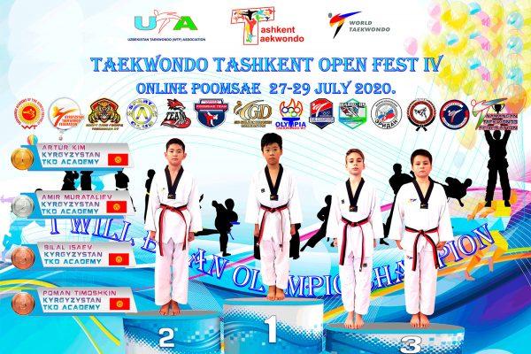 Pupils of the Kyrgyz Taekwondo Academy won six medals at the international tournament