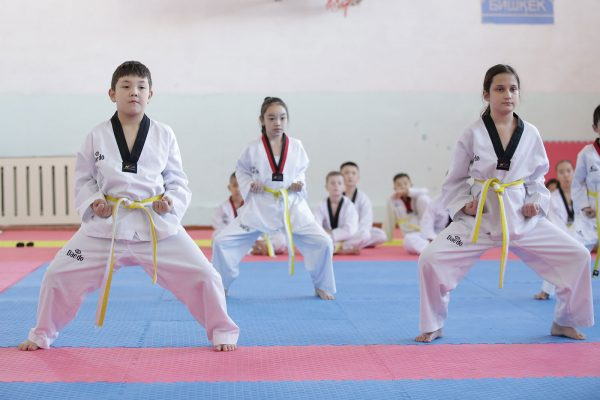 Studens of the Taekwondo Academy of the Kyrgyz Republic defended the exam for colored belts