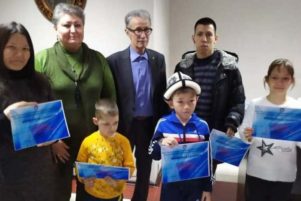 """Students of the Para-Taekwondo Federation of the Kyrgyz Republic took part in the competition """"Love, appreciate and know your native language""""."""