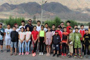Students of the Taekwondo Academy of the Kyrgyz Republic held a training camp on Issyk-Kul lake